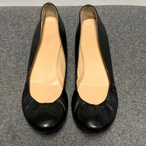 J Crew Cece Black Leather Ballet Flat 8